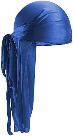 Libertroy Hommes Femmes Soie Satin Respirant Soyeux Durag 360 Wave Cool Bandana Hat Turban