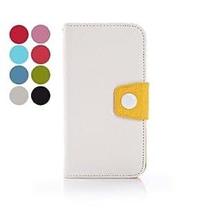 HP-Rainbow Voltear Folio cartera de la caja del teléfono de la PU de cuero para i9600 Samsung Galaxy S5