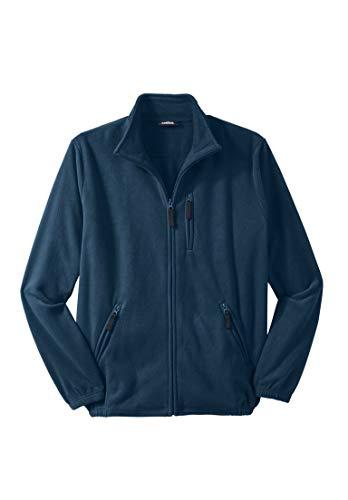 KingSize Men's Big & Tall Explorer Fleece Jacket, Navy Big-3Xl by KingSize