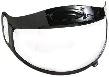 (Raider 26-2003 Dual Clear Lens Shield Full Face Snowmobile Helmet)