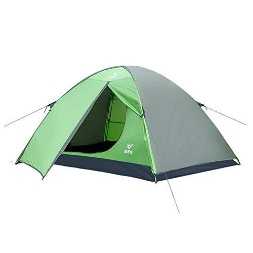 報いる交渉する妖精DALL テント テント アウトドア 家族 キャンプ 軽量 防水 ポータブル ハイキング 二人 (色 : Green)
