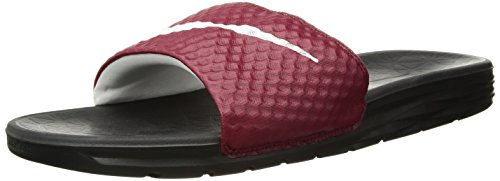 (Nike Men's Benassi Solarsoft Slide Athletic Sandal, Team Red/White/Black, 13 D(M) US )