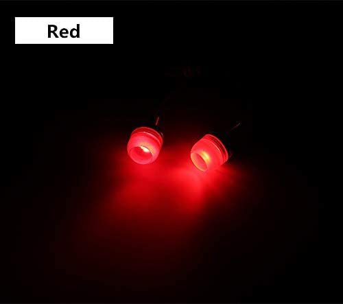 LED License Plate Light Universal Motorcycle Car LED Screw Bolt Lights Waterproof LED Bulbs Replacement For Backup Tail Light Decorative Lights Multi-color Optional Motorcycle Accessories Motorcycle A