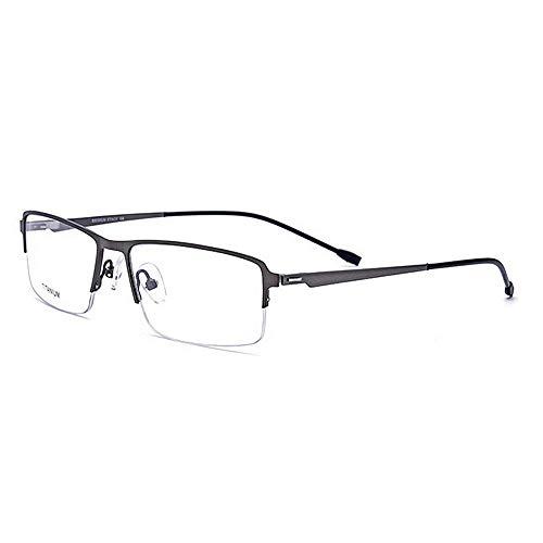cuadrada gafas clara negocios rebordes flexibles de polarizadas sin Wayfarer Gafas Aviator fibra titanio lente sol Anteojos Forma de Gafas de de para sol de Acetato ligero semi con de Gris aleación Peso wSXa4Hq