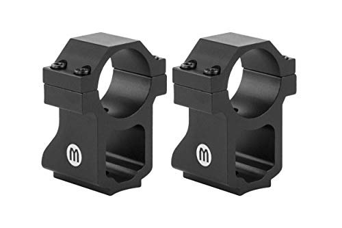 Monstrum Ruger 10/22 Rifle Scope Rings with See-Through Base | 1 Inch Diameter (Ruger 10 22 Best Scope)