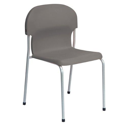 Metalliform 2015-sv-charcoal standard Classroom sedia con sedile 380mm, antracite