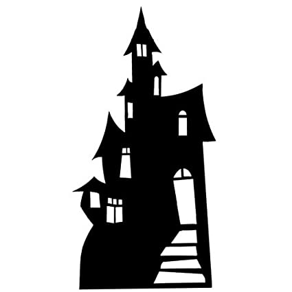 Amazon Haunted House Silhouette