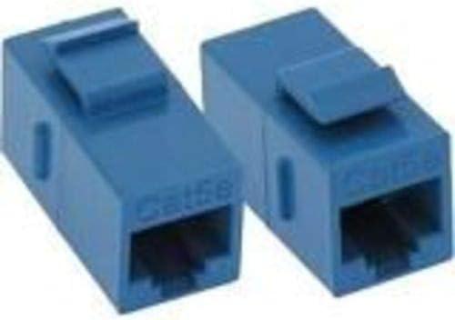 BLU Unirise C5E-CPLR-BLU CAT5E RJ45 Keystone in-LINE Coupler