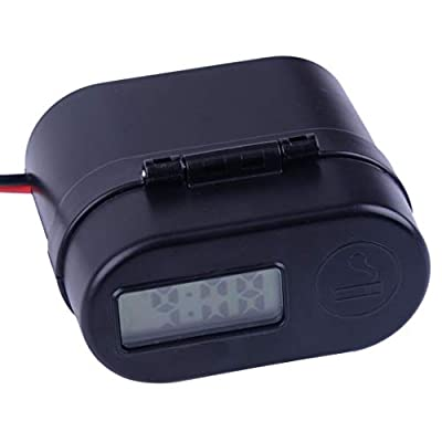 Motorcycle LED Waterproof Handlebar Cigarette Lighter Dual USB Charger Switch Voltmeter ABS Cable Length 142cm