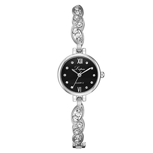 (Qingell Watches Simple Casual Fashion Round Alloy Small and Exquisite Female Bracelet Watch 2019 Best New (D, one Size))