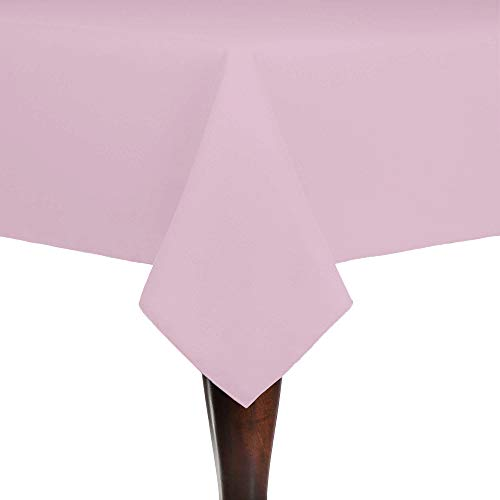Ultimate Textile Cotton-Feel 60 x 120-Inch Rectangular Fine Dining Tablecloth Light Pink