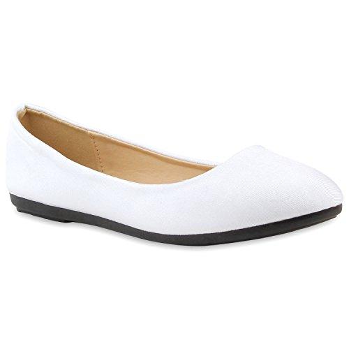 Ballerina Stiefelparadies Klassische Metallic Lack Slip Damen Schuhe Ons Weiß Flats Ballerinas Flandell Übergößen Slipper Velours Schuhe Leder Glitzer Optik 1H1qr5x