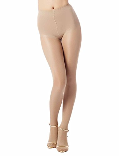 iB - iP Womens Bright Yarn Pantie Thickening Everyday Mid Waist Sheers Pantyhose,  Sand, One Size