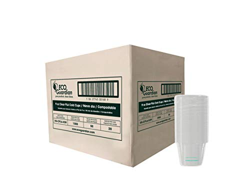 Eco Guardian 9 Ounce PLA Compostable Cold Cup, Clear, 1000 pack by Eco Guardian (Image #2)