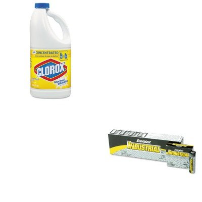 KITCOX30779EVEEN91 - Value Kit - Clorox Concentrated Scented Bleach (COX30779) and Energizer Industrial Alkaline Batteries (EVEEN91)