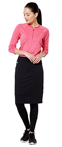 Snoga Full-Coverage Workout Pencil Skirt w/ Cropped Leggings - Black, Large