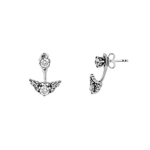 (Pandora Sterling Silver Fairytale Tiara Stud Earrings 296228CZ)