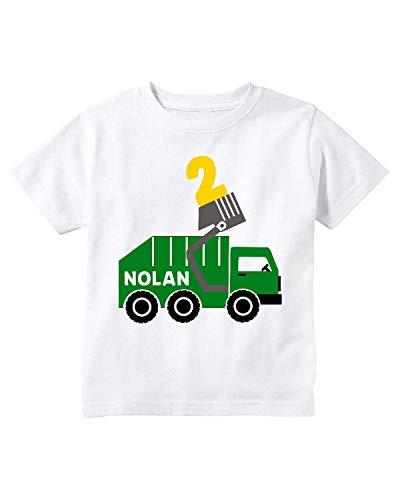 Happy Lion Clothing - Garbage truck shirt, garbage truck birthday shirt, trash truck shirt