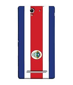 ColorKing Football Costa Rica 10 Multi Color shell case cover for Sony Xperia C3
