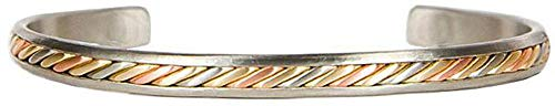 BillyTheTree Jewelry Mayan Silvertone - Sergio Lub Copper Cuff Bracelet - Handmade in USA! - - Sergio Lub Cuff