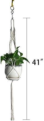 A: 2 Packs Plant Hangers yfstyle Macrame Plant Hanger Boho Home Decor Indoor Wall Hanging Planter Basket Flower Pot Holder Set of 2
