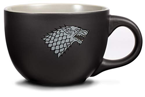 Game of Thrones Giant 24 oz Mug - House Stark Soup Mug - Collectible Winter is Coming Stark Oversized Coffee Cup - Novelty GoT Direwolf Big Coffee Cup