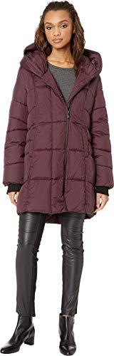Sam Edelman Women's Pillow Collar Puffer Jacket Burgundy Medium