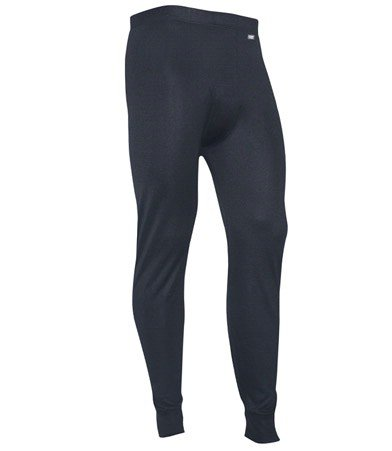 Polarmax Men's Double Base Layer Pant (Black, Large) -
