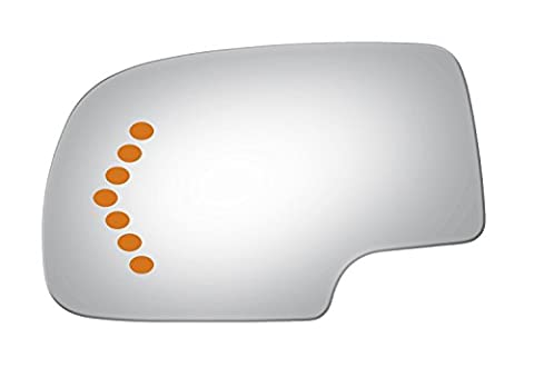 Burco 4017S Redi Cut Left Driver Side Replacement Mirror Glass with signal for 2002-2006 Chevy Silverado, GMC Sierra, 2003-2006 Chevy Avalanche, Suburban, Tahoe, GMC Yukon, Cadillac - Suburban Driver Mirror Glass