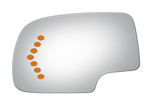 Burco 4017S Redi Cut Left Driver Side Replacement Mirror Glass with signal for 2002-2006 Chevy Silverado, GMC Sierra, 2003-2006 Chevy Avalanche, Suburban, Tahoe, GMC Yukon, Cadillac Escalade (Gmc Side Mirrors)