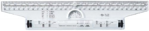 Alvin Rolling Ruler 12 Inch Clear Acrylic T-square