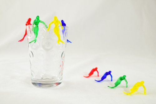 Mermaid Picks - Mermaid Cocktail Drink Markers -  Case of 1000 by PartyTiki (Image #1)