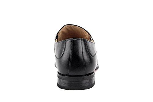 Majestueuze Heren 37433 Gesp Slip Op Casual Instappers Loafers Schoenen Zwart