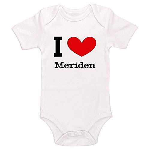 Kinacle I Love Meriden Baby Bodysuit (Preemie, White) -
