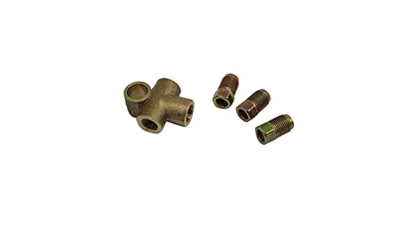 """3 Way T Piece Brake Tee With 3 Male Nuts Short Union Metric M10 3//16/"""" Pipe 10mm"""