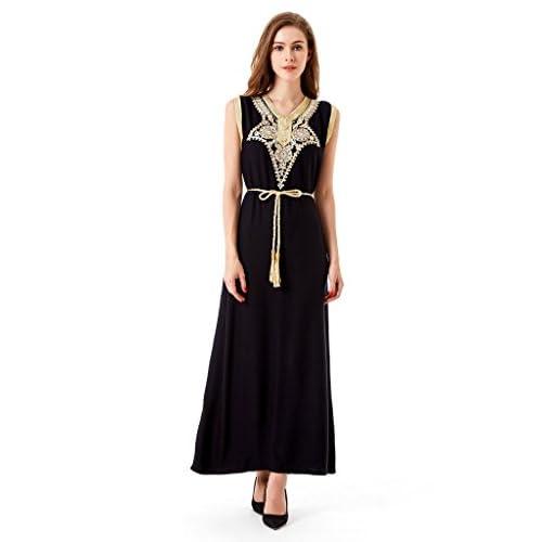 d77213df06 Musulmán islámica Abaya jalabiya Kaftan caftan Dubai Maxi vestido largo de  árabe para mujer ropa