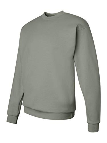 Hanes Men's EcoSmart Fleece Sweatshirt, Stonewashed Green, Large