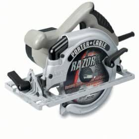 PORTER-CABLE 743K 7-1/4-Inch, 15 Amp Framers Saw with Carrying Case (Blade on Left)