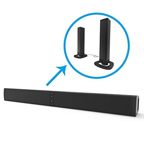NFY Desmontable Barra de Sonido(1-2), inalámbrico Caja de Speaker Bluetooth Altavoz 3D Cine en casa Sistema de Sonido HiFi...