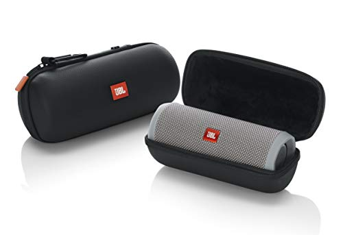 JBL Lifestyle Carry Case for Flip 4 Bluetooth Portable Speaker Rugged EVA Shell with Weather Resistant Zippered Seal and Carabiner Style Clip, (JBL-FLIP4-CASE)