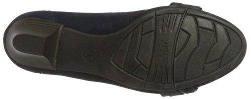 Jana 22300 - Zapatos de Tacón Mujer Azul (Navy Suede 806)