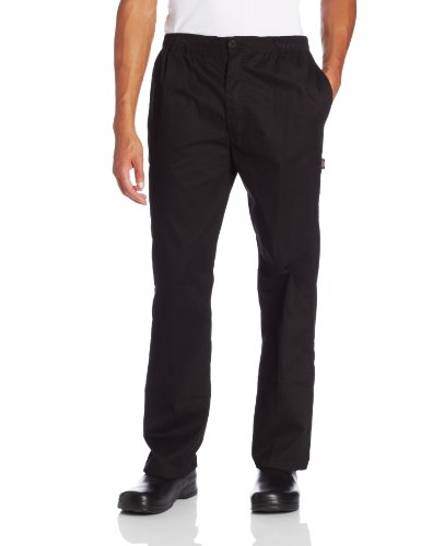 Dickies Men's The Classic Trouser Chef Pant, Black, Large by Dickies