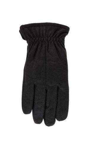 Men's 'Jackaroo' Sheepskin Leather Gloves with Fleece Lining By Grandoe (9.5-10 (L), Black Well Worn)