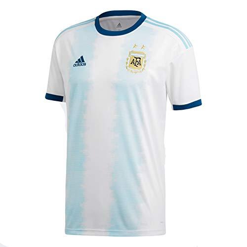 (adidas Men's AFA Argentina Home Soccer Jersey (Medium) White/Lite Aqua)