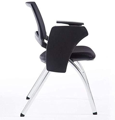 Arm sittstol hopfällbar vadderad kontorsmottagning skrivbordsstolar hopfällbar stol, med en multifunktionell skrivbräda knästol
