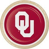 Club Pack of 96 NCAA University of Oklahoma Disposable Paper Party Dinner Plates 9''