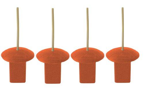 Rubber Black Anchor Plug - Markwort Base Plug with Indicator-4 pack-Orange Rubber Base Plug with Single Indicator