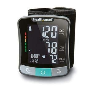 HealthSmart174; Premium Series Universal Wrist Digital Blood Pressure Monitor, Adult, Black