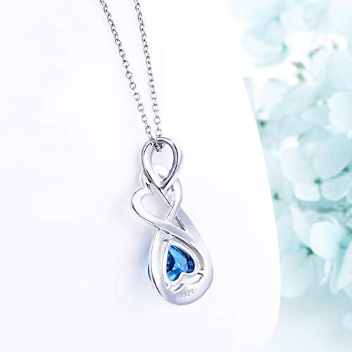 YinShan I Love You Forever Heart Necklace Jewelry Sterling Silver Pendant by YinShan (Image #4)