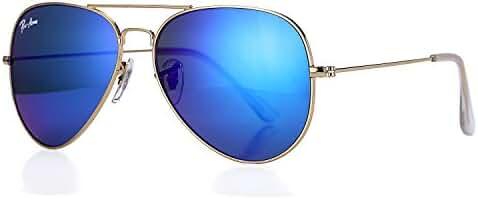 Pro Acme Aviator Crystal Lens Large Metal Sunglasses,58mm